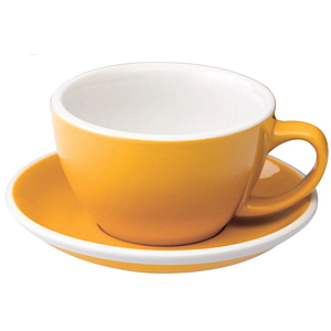 C088-29BYE 	 200ml Cappuccino Cup 	 YELLOW  	 EGG SET OF 6