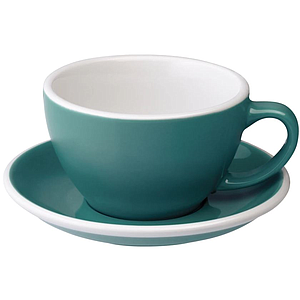 C088-31BTE 	 200ml Cappuccino Cup 	 TEAL  	 EGG SET OF 6