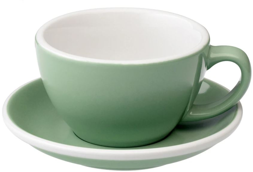 C088-33BMT 	 200ml Cappuccino Cup 	 MINT  	 EGG SET OF 6