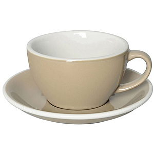 C088-72BTP 	 200ml Cappuccino Cup 	 TAUPE  	 EGG SET OF 6