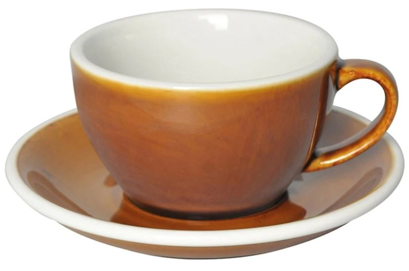 C088-74BCA 	 200ml Cappuccino Cup 	 CARAMEL  	 EGG SET OF 6
