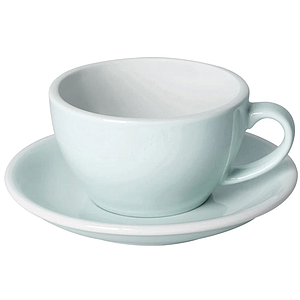 C088-63BBL 	 150ml Flat White Cup 	 RIVER BLUE  	 EGG SET OF 6