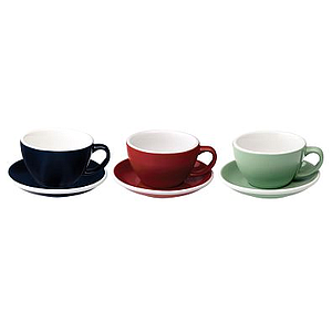 80ML ESPRESSO CUPS (DENIM, RED, MINT) SET OF 6